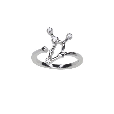 Pure Silver Horoscope Constellation Ring (Sagittarius)