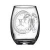 Laser Engraved Gemini Horoscope Wineglass (15oz)