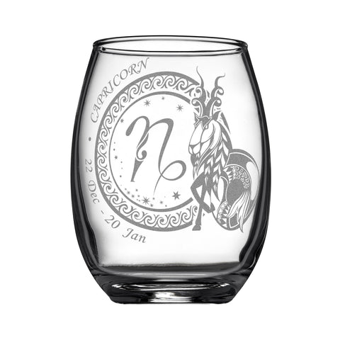Image of Laser Engraved Capricorn Horoscope Wineglass (15oz)