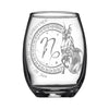 Laser Engraved Capricorn Horoscope Wineglass (15oz)