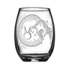 Laser Engraved Taurus Horoscope Wineglass (15oz)