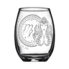 Laser Engraved Virgo Horoscope Wineglass (15oz)