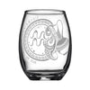 Laser Engraved Aquarius Horoscope Wineglass (15oz)
