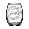 Laser Engraved Libra Horoscope Wineglass White Background