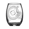 Laser Engraved Cancer Horoscope Wineglass (15oz)
