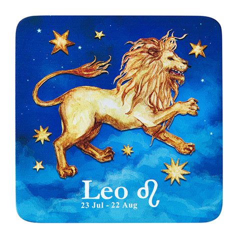 Image of Bespoke Celestial Horoscope Beverage Coasters (2 Sets of 6, 12 Total)