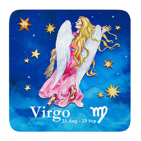 Bespoke Celestial Horoscope Beverage Coasters - Star Set (1 Set of 6, 6 Total)