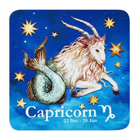 Bespoke Celestial Horoscope Beverage Coasters (2 Sets of 6, 12 Total)