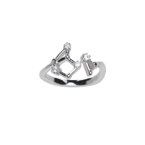 Pure Silver Horoscope Constellation Ring (Pisces)