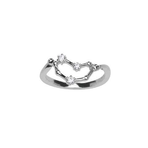 Pure Silver Horoscope Constellation Ring (Capricorn)