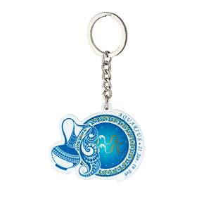 Premium Quality Aquarius Horoscope Keychain