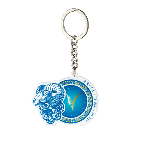 Image of Premium Quality Aries Horoscope Keychain