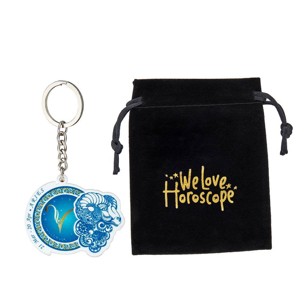 Premium Quality Aries Horoscope Keychain