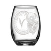 Personalized YOUR NAME HERE Laser Engraved ARIES Horoscope Wineglass (15oz)