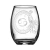 Personalized YOUR NAME HERE Laser Engraved CANCER Horoscope Wineglass (15oz)