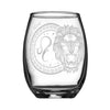 Personalized YOUR NAME HERE Laser Engraved LEO Horoscope Wineglass (15oz)