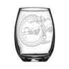 personalized YOUR NAME HERE Laser Engraved Libra Horoscope Wine Glass 15 ounces white background