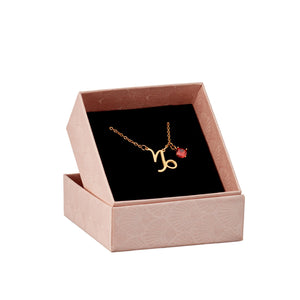 Capricorn astrology sign necklace in gift box