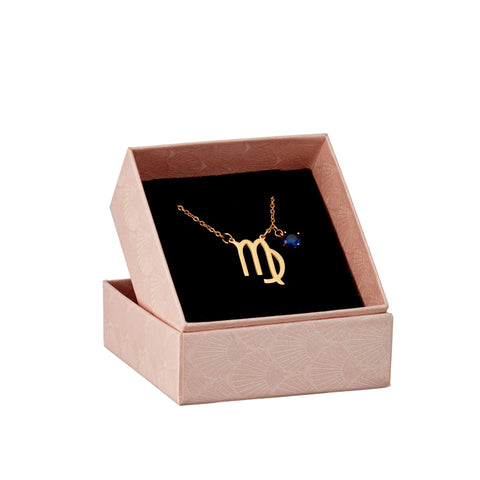 Image of Virgo zodiac necklace in gift box