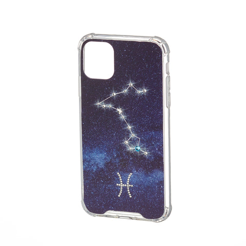 Image of Swarovski Crystal-Inspired Horoscope Star Sign Constellation Phone Case (PISCES)