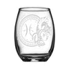 Personalized YOUR NAME HERE Laser Engraved PISCES Horoscope Wineglass (15oz)