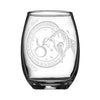 Personalized YOUR NAME HERE Laser Engraved TAURUS Horoscope Wineglass (15oz)