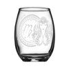 Personalized YOUR NAME HERE Laser Engraved VIRGO Horoscope Wineglass (15oz)