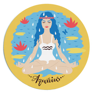 Custom Printed Aquarius Horoscope Star Sign Mousepad