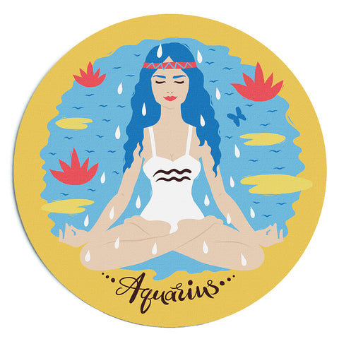 Image of Custom Printed Aquarius Horoscope Star Sign Mousepad
