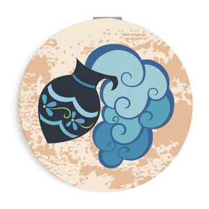 Custom Printed Aquarius Star Sign Compact Foldable Mirror