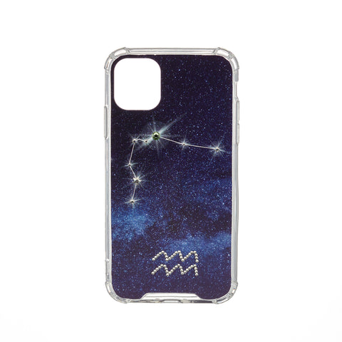Image of Swarovski Crystal-Inspired Horoscope Star Sign Constellation Phone Case (AQUARIUS)