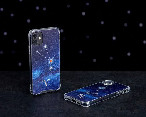 Image of Swarovski Crystal-Inspired Horoscope Star Sign Constellation Phone Case (ARIES)
