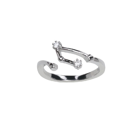 Pure Silver Horoscope Constellation Ring (Aries)