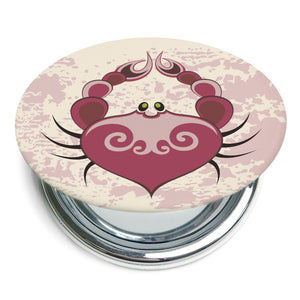 Custom Printed Cancer Star Sign Compact Foldable Mirror