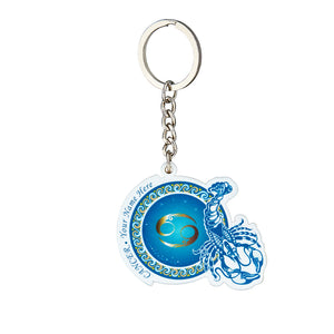 Personalized YOUR NAME HERE Cancer Keychain