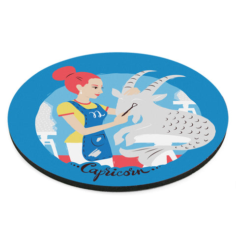 Image of Custom Printed Capricorn Horoscope Star Sign Mousepad