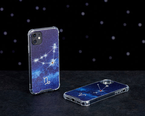 Image of Swarovski Crystal-Inspired Horoscope Star Sign Constellation Phone Case (CAPRICORN)