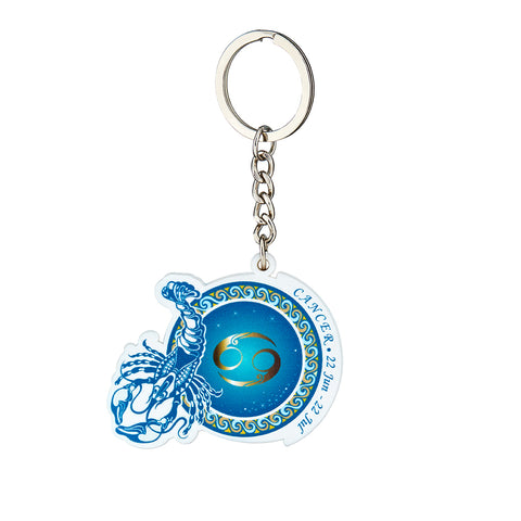 Premium Quality Cancer Horoscope Keychain