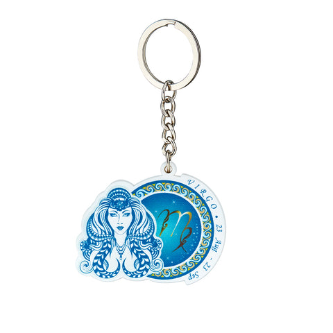 Image of Premium Quality Virgo Horoscope Keychain