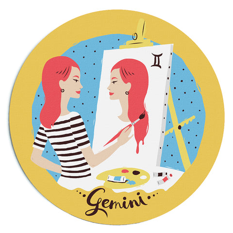 Image of Custom Printed Gemini Horoscope Star Sign Mousepad