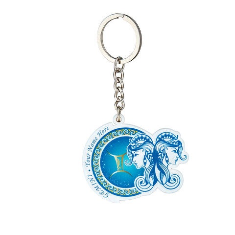 Personalized YOUR NAME HERE Gemini Keychain