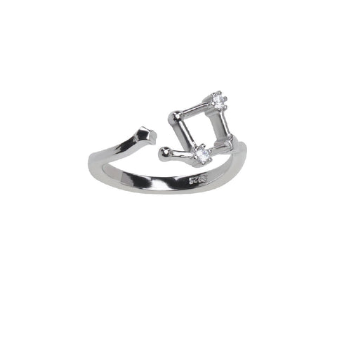 Image of Pure Silver Horoscope Constellation Ring (Taurus)