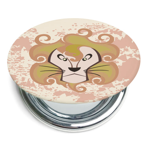 Image of Custom Printed Leo Star Sign Compact Foldable Mirror