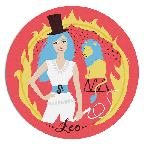"Image of Custome Printed ""Leo"" Horoscope Star Sign Mousepad"