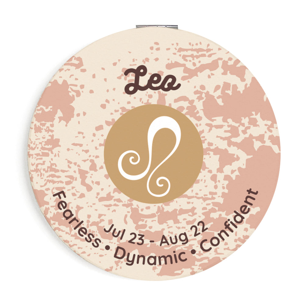 Custom Printed Leo Star Sign Compact Foldable Mirror