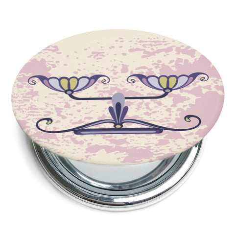 Image of Custom Printed Libra Star Sign Foldable Compact Mirror