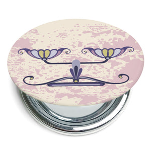 Custom Printed Libra Star Sign Foldable Compact Mirror