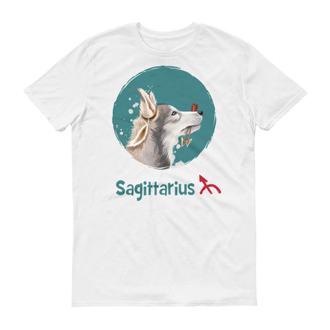 Image of Adventurous Sagittarius Dog Short-Sleeve T-Shirt