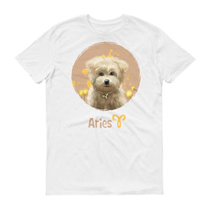 Calm Aries Dog Short-Sleeve Unisex T-Shirt