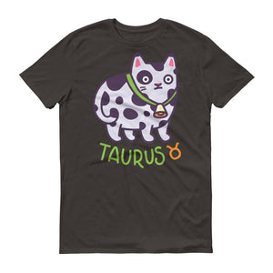 Taurus Cat Short-Sleeve Dark T-Shirt